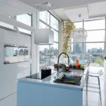 Szkło lacobel w kuchni Warszawa